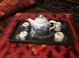 Khay trà khảm ốc