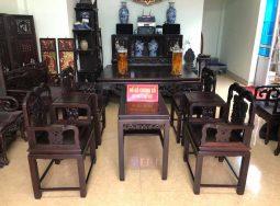 Bộ bàn ghế vách