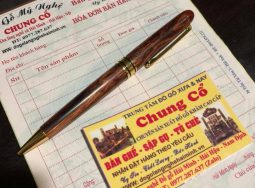 Bút bi gỗ sưa
