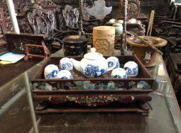 Khay trà gỗ cẩm