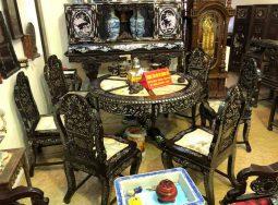 Bộ bàn ghế gỗ gụ khảm