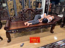 giường phương lười gỗ gụ
